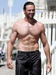 A 44 year old Australian actor known for his role in X-Men movies and his latest role in Les Misérables.
